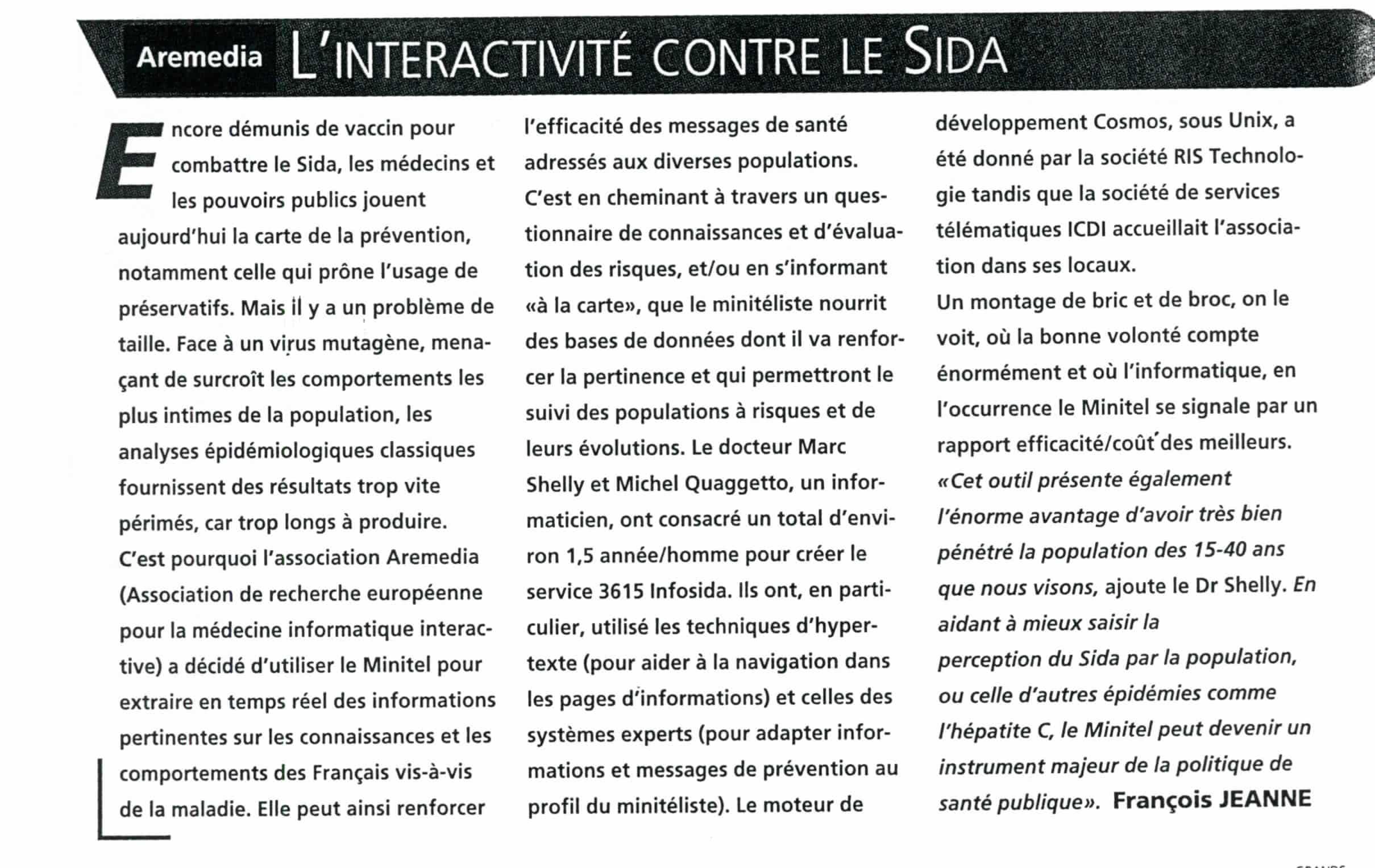 L'interactivité contre le Sida